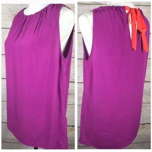Kate spade purple sleeveless blouse xs nwot